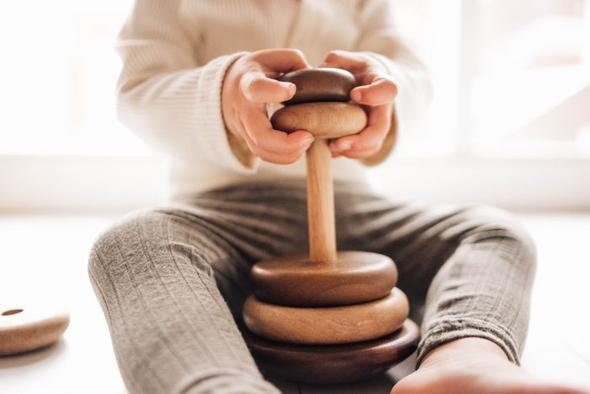 allow your kid to use the wooden toys in different manners as much as possible.